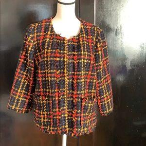 Tweed vintage style blazer